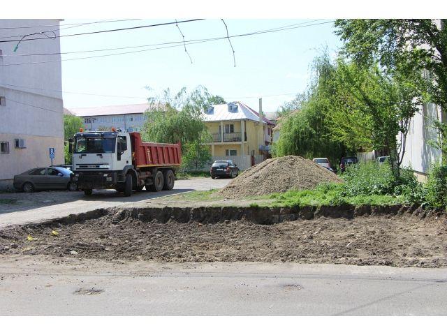 Așa arăta strada Gheorghe Magheru din Focșani la începutul reabilitătării