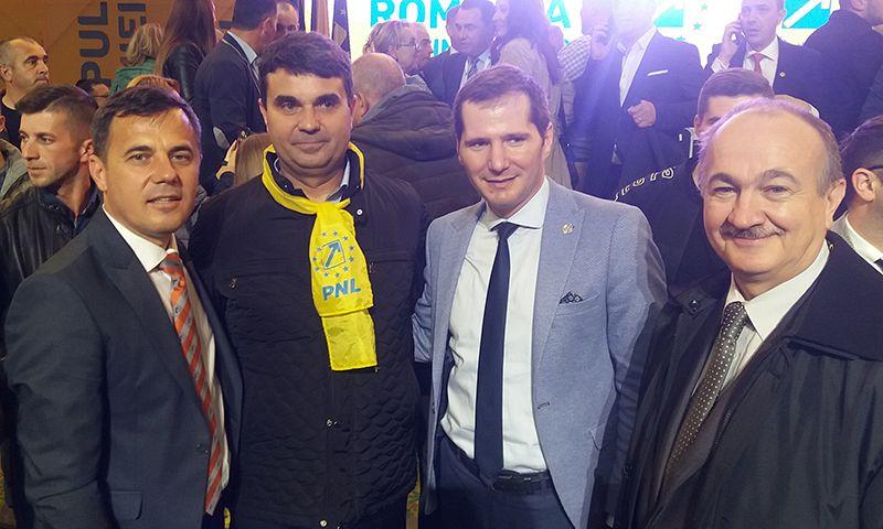David Chiriță, alături de deputatul Ștefan, senatorul Toma și consilierul județean Florin Nedelcu