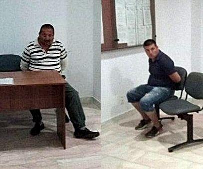 Foto: Mustafa Argint şi Musfata Remus, nepotul, primii doi arestaţi în acest dosar