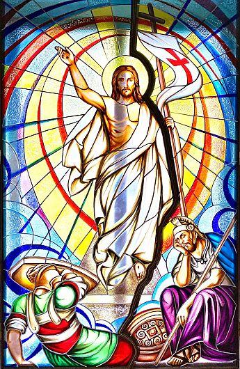 """Vitraliu de la Biserica romano-catolitică """"Sfinții Apostoli Petru și Paul"""" Focșani"""