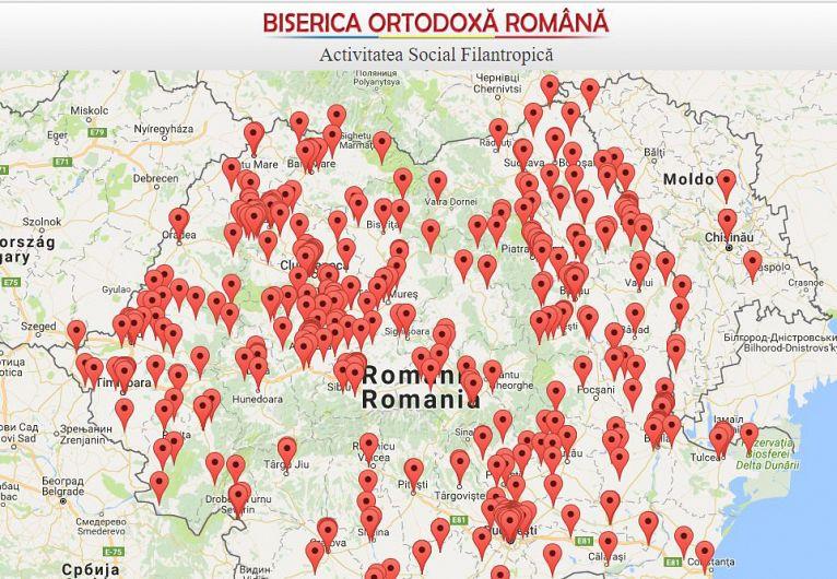 Harta serviciilor filantropice a BOR
