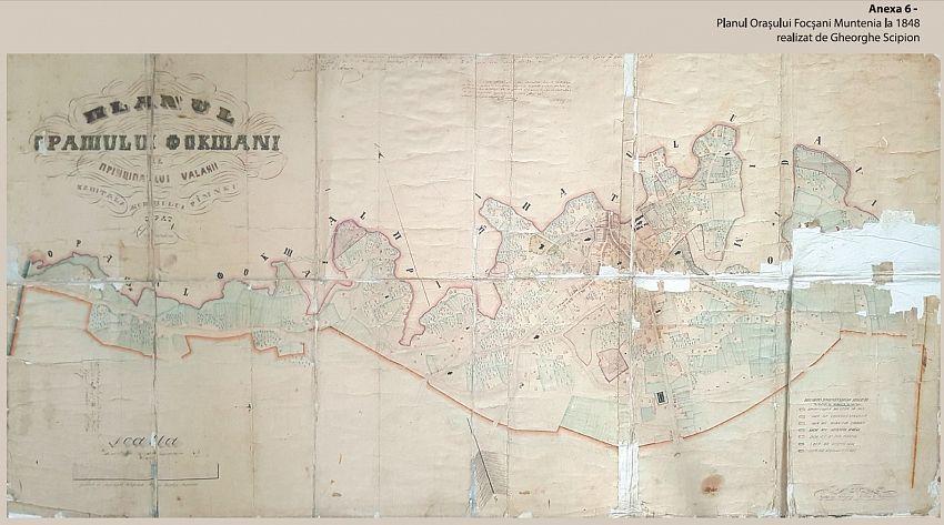 Foto: Planul Orașului Focșani Valahiei la 1848