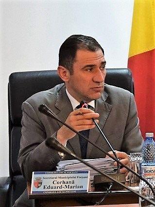 Eduard Corhană, Secretarul Municipiului Focșani