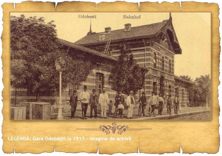 Gara Obobești la 1917.Foto:Foto: http://podgoriivrancene.ro/
