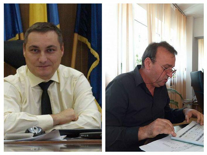 Sorin Hornea (stânga) a fost înlocuit în funcția de prefect al județului Vrancea, de Ticu Costandache (dreapta).jpg