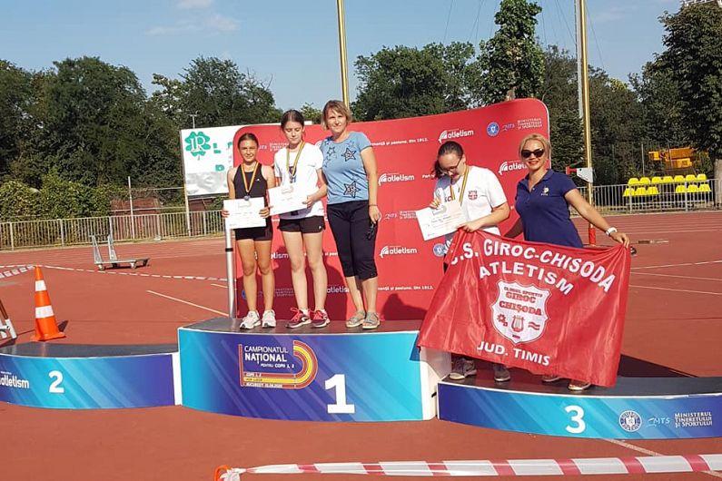 Alessia Beatris Munteanu -campioană națională și Miruna Marina Lungu -vicecampioană națională la aruncarea suliței copii 1