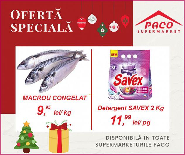 OFERTA ESTE DIPONIBILĂ în zilele de 14,15,16 decembrie 2020 în toate supermarketurile PACO!