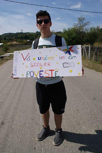 Andrei Vasile, voluntar povestaș în echipa Asociației