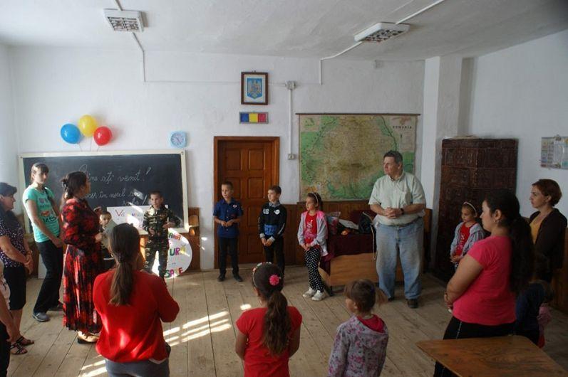 Sala de clasă a Școlii primare din Țipău