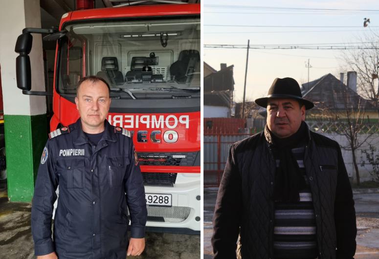 FOTO: Plutonierul adjutant Ursulescu Silviu (foto stânga) era în drum spre serviciu când a găsit un portofel. În ajutorul lui a venit plutonierul adjutant (r) Dediu Nicolae (foto dreapta), care a popularizat cazul pe grupul de Facebook pe care îl administrează, găsind astfel proprietarul.