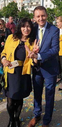 Lucica Nistor, alături de europarlamentarul Siegfried Mureșan