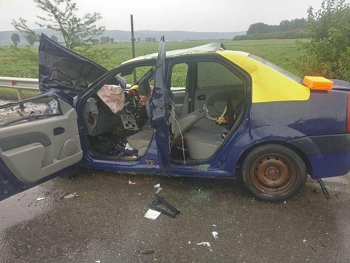Accident rutier între Adjudu Vechi și Lespezi cu două victime încarcerate.Foto1 :ISU Vrancea