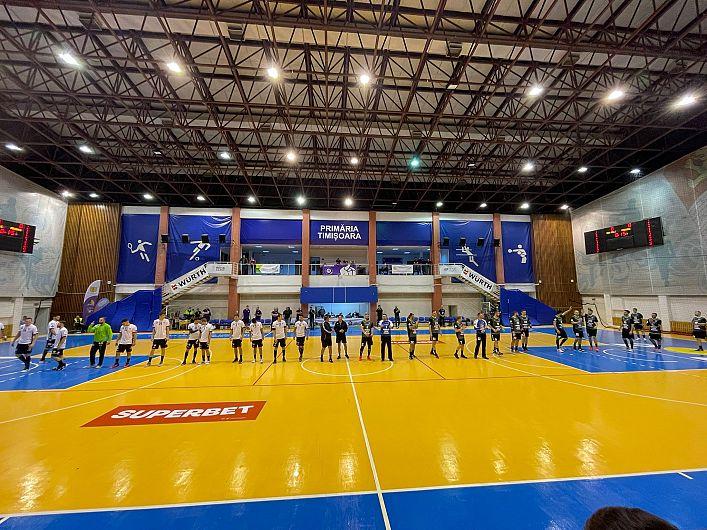 SCM Politehnica Timișoara- CSM Focșani 2007:20-27 (12-14) în prima etapă a Ligii Naționale de Handbal ( LNMH) sezonul 2021/22.Foto: contul de facebook:Cătălin Vlădescu