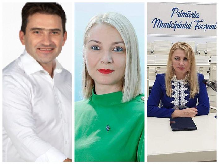 Autopropunerea consilierului liberalLiviu Macovei (foto stânga) pentru funcția de viceprimar al Focșaniuluin-a izbutit să dea peste cap înțelegerea dintre PNL și USR-PLUS, făcută publică cu puțin timp înainte de începerea ședinței de joi, 28 ianuarie 2021, a CL Focșani. Conform acestei înțelegeri, în urma votului consilierilor locali, viceprimarii Focșaniului vor fi, în premieră, două femei: Ana Maria Dimitriu din partea PNL (foto mijloc) și Alexandra Tătaru (foto dreapta) din partea USR-PLUS.