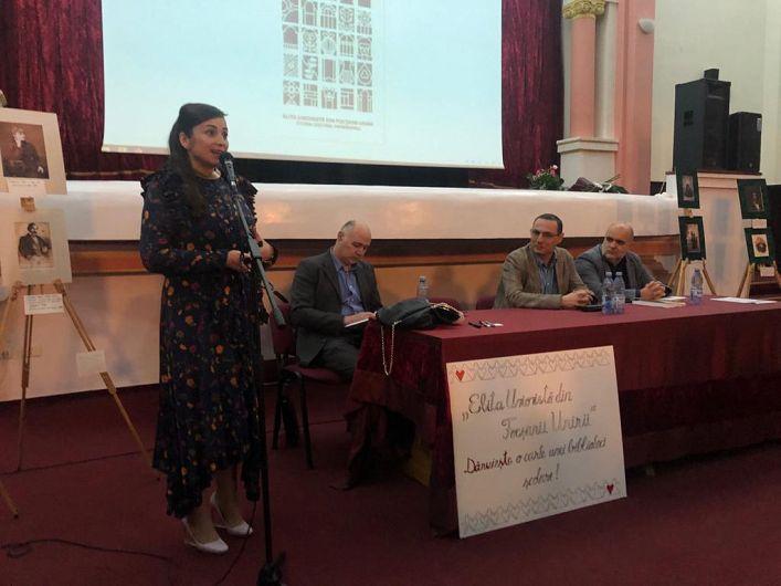 """Silvia Vrînceanu-Nichita, la evenimentul de lansare a cărții""""Elita unionistă din Focșanii Unirii. Istorii. Destine. Patrimoniu"""""""