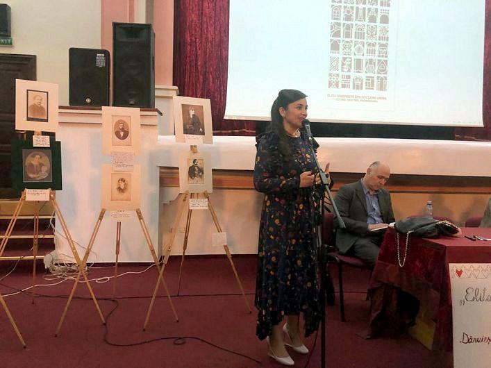 """Silvia Vrînceanu-Nichita, la evenimentul de lansare a cărții """"Elita unionistă din Focșanii Unirii. Istorii. Destine. Patrimoniu"""""""
