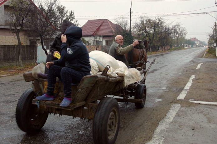 Țăranii din Vadu Pașii, județul Buzău, salută ideea de a avea canalizare. În realitate, nu doar pe internet--foto:recorder.ro
