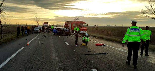 Tragedie pe DN2 E85. Trei persoane au decedat și alte patru au fost rănite în ziua de Crăciun. Sursa foto: Digi24