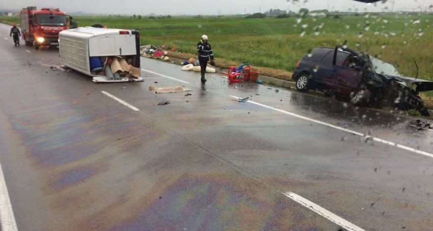 Foto: Desteptarea.ro: Accidentul a avut loc pe E 85