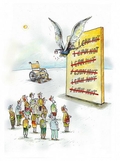 """Grafică realizată de Constantin Pavel pentru evenimentul """"Vrem un Focșani fără bariere!"""" organizat  pe 26 și 27 octombrie 2019 în Focșani, de asociația """"Eu, tu și ei"""" şi grupul civic """"dizabil.eu"""""""