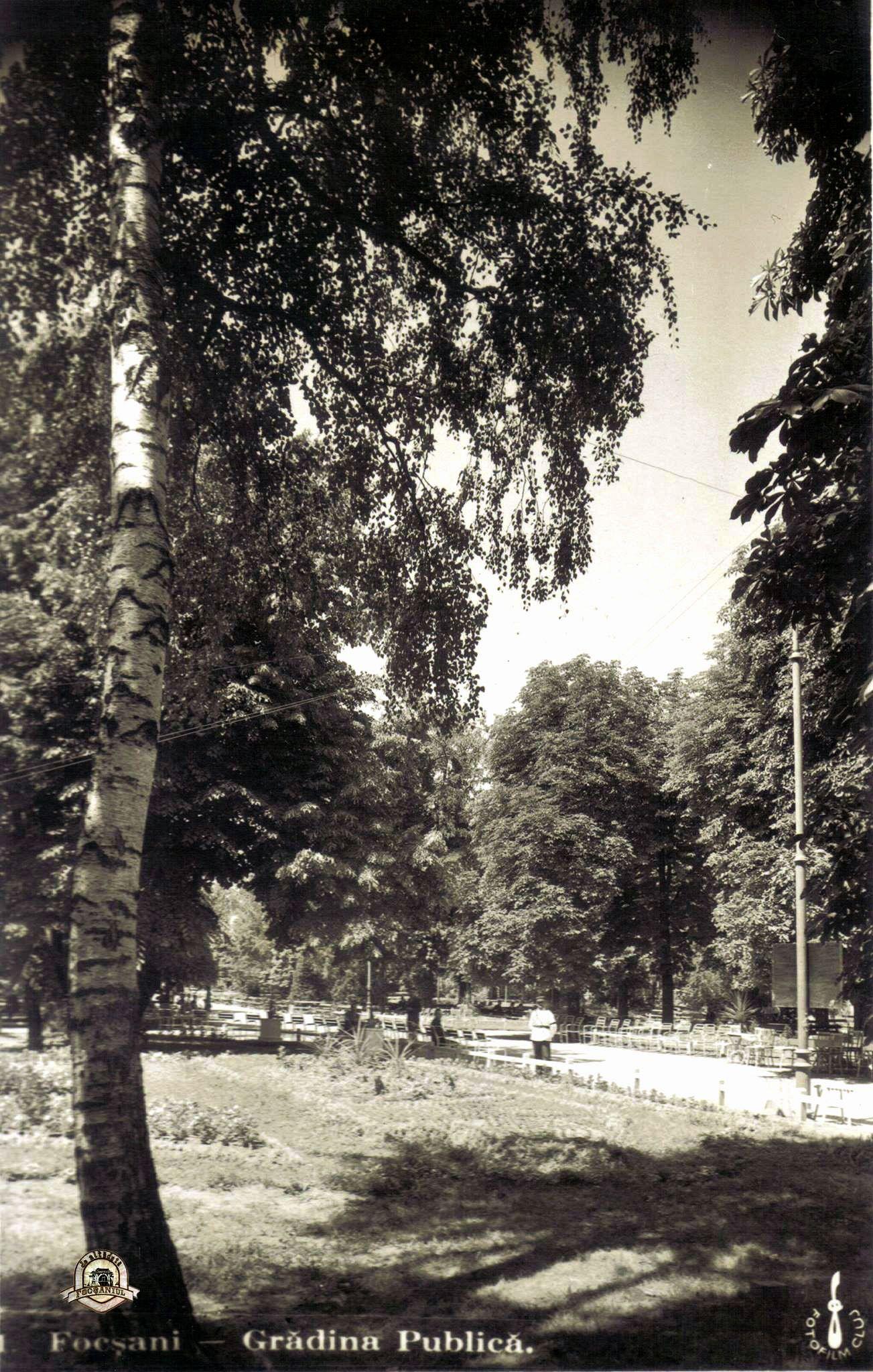 Grădina Publică din Focșani - Ilustrată din anii 1930