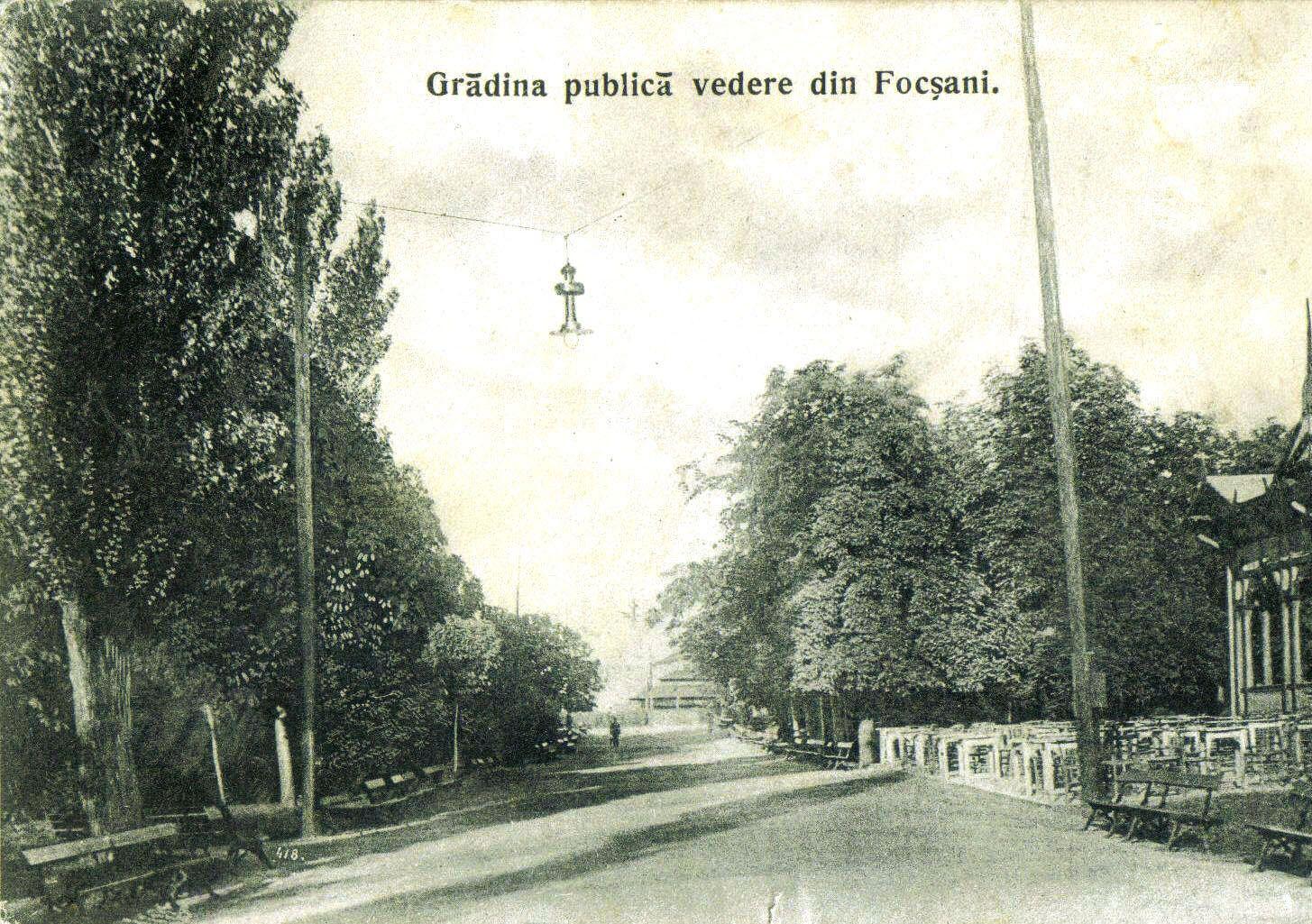 Grădina Publică Focsani - 1900